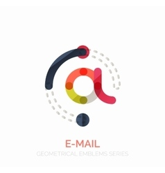 Email business symbol or at sign logo vector
