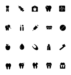 Dental icons 2 vector