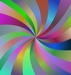 Abstract colorful spiral ray design background vector