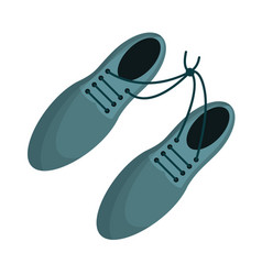 April fool shoelaces tied image vector