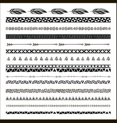 Black abstract tribal seamless pattern vector
