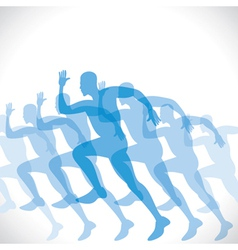 blue men runner vector image