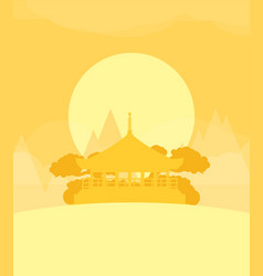 China flat design travel morning vector