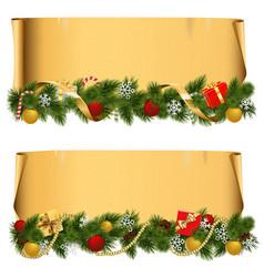 Christmas Scroll Set 1 vector image vector image