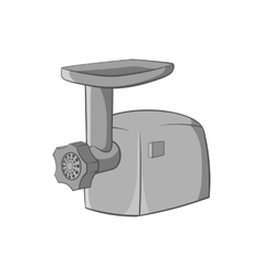 Electric grinder icon black monochrome style vector image