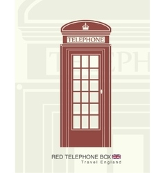 Figure of a red telephone boot vector