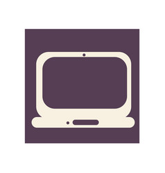 flat style computer icon vector image