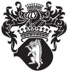 Heraldic silhouette no38 vector