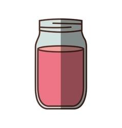 Jar jam delicious shadow vector