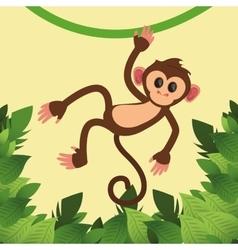 jungle monkey cartoon vector image