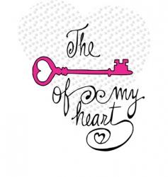 key of my heart vector image