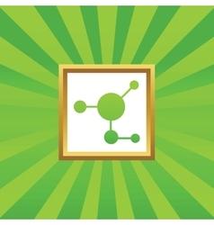 Molecule picture icon vector