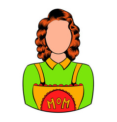mom icon in icon cartoon vector image