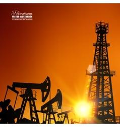 Oil derrick vector image vector image