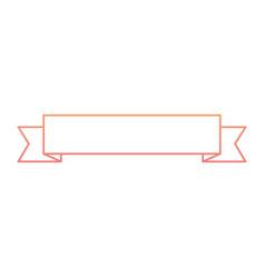 ribbon banner decoration ornament icon vector image vector image