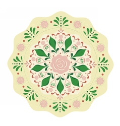 Round flowers pattern background vector