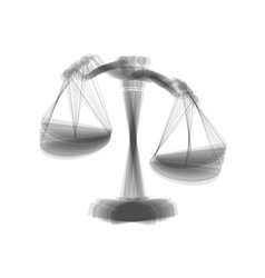 Scales of justice sign gray icon shaked vector