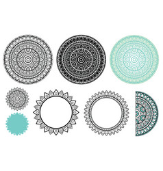 Set elements from mandala mandala vector