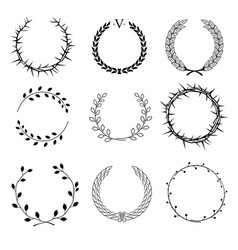 set of different wreaths vector image vector image