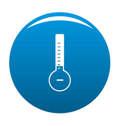 Thermometer cold icon blue vector