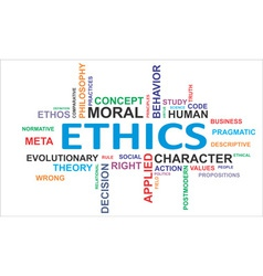 Word cloud ethics vector