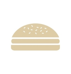 Hamburger snack lunch design vector