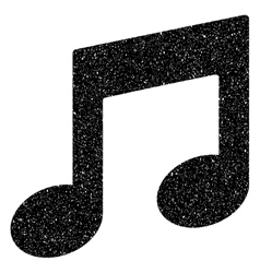Music notes grainy texture icon vector