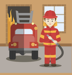 Fireman isolated vector