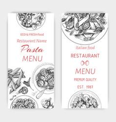 Sketch - pasta card menu vector