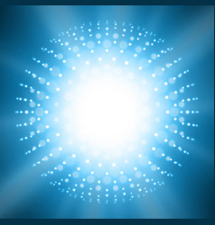 Abstract sun glow blue background points vector