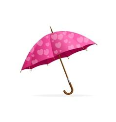 Pink heart Umbrella vector image