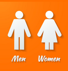 Signs - male female wc vector