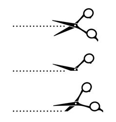 Cutting scissors and black points vector