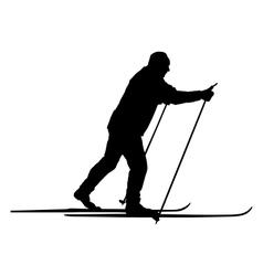 Nordic skier vector