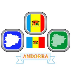 Symbol of andorra vector
