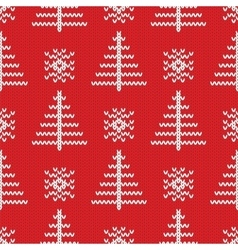Knitted seamless pattern background vector