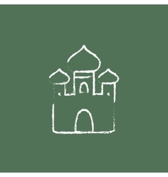 Orthodox church icon drawn in chalk vector