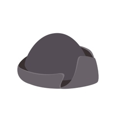 An old black hat isometric 3d icon vector