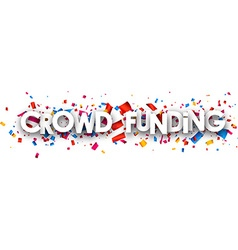 Crowd funding paper banner vector