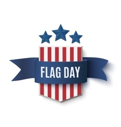 Flag day badge vector