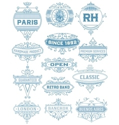 Vintage banners layered vector