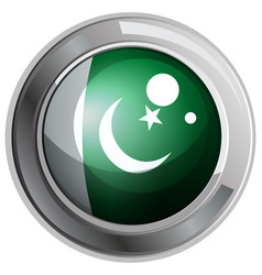 Badge design for pakistan flag vector
