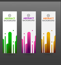 Banner abstract colorful shapes vector