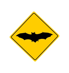 Bat warning sign vector image vector image