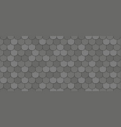 black roof tiles vector image
