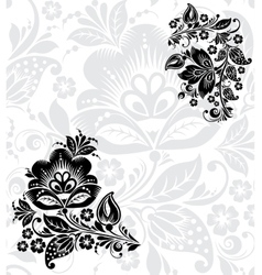 Black silhouette of flower vector image vector image
