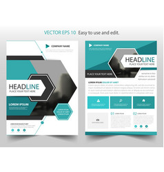 blue abstract hexagon annual report brochure vector image