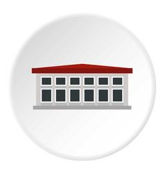 Building icon circle vector