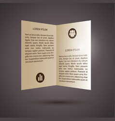 Business abstract paper infographics vector