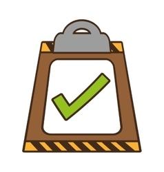 Cartoon clipboard check list delivery vector
